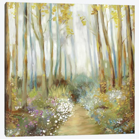 Misty Trees  3-Piece Canvas #ALP320} by Allison Pearce Canvas Art Print