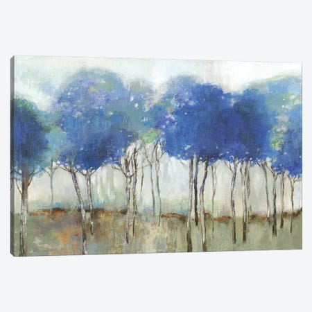 Indigo Woodland  3-Piece Canvas #ALP328} by Allison Pearce Canvas Art Print