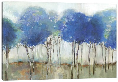 Indigo Woodland  Canvas Art Print