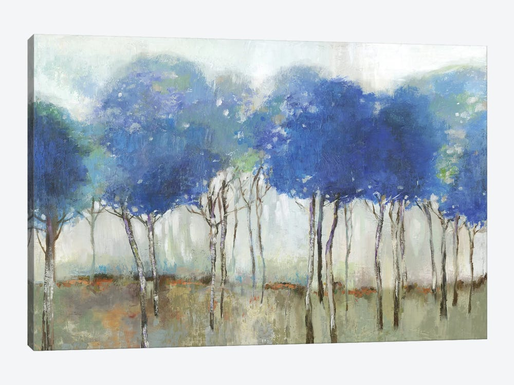 Indigo Woodland  by Allison Pearce 1-piece Canvas Artwork