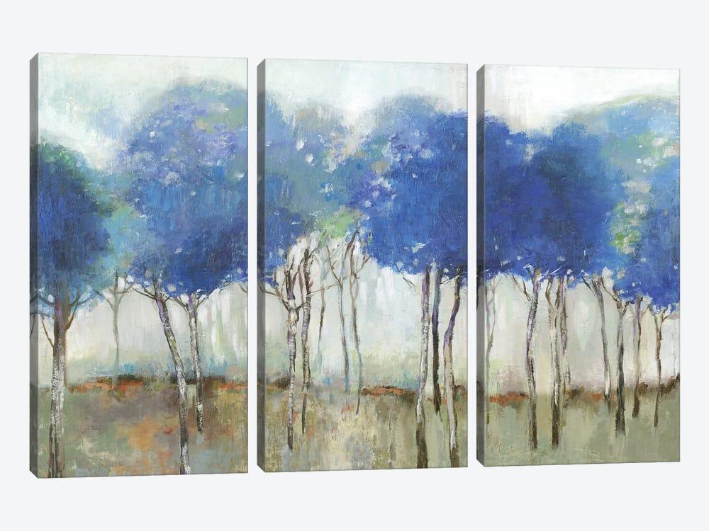 Indigo Woodland  by Allison Pearce 3-piece Canvas Artwork