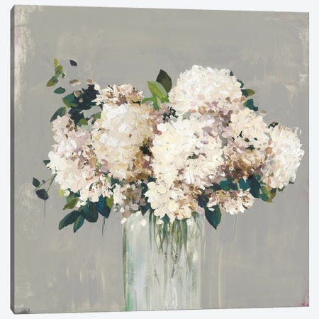 White Hydrangea  3-Piece Canvas #ALP331} by Allison Pearce Canvas Artwork