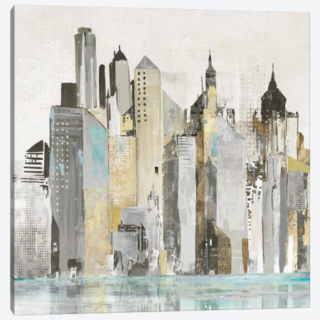 Bustling City  Canvas Print #ALP340} by Allison Pearce Canvas Print