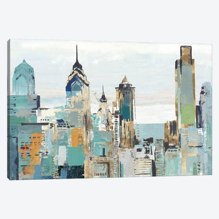 Teal City I Canvas Print #ALP346} by Allison Pearce Canvas Art