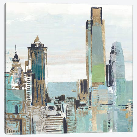Teal City III Canvas Print #ALP348} by Allison Pearce Canvas Print