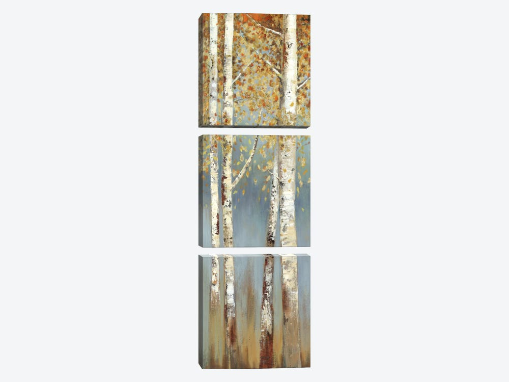 Butterscotch Birch Trees I by Allison Pearce 3-piece Canvas Artwork