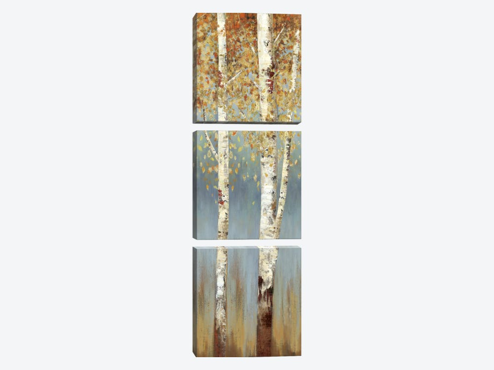Butterscotch Birch Trees II by Allison Pearce 3-piece Canvas Art Print
