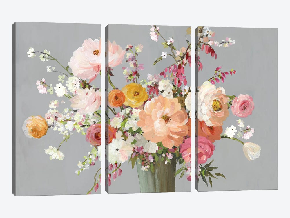 Floral Song by Allison Pearce 3-piece Canvas Print