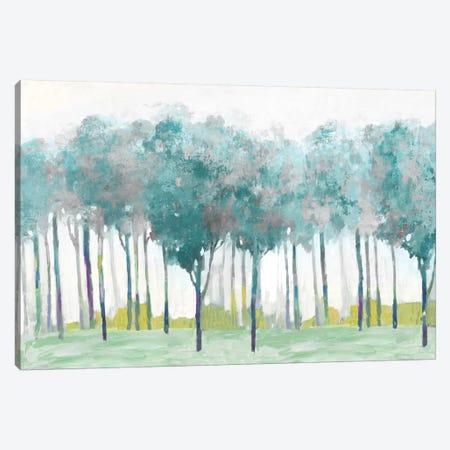 Teal Silver Canvas Print #ALP401} by Allison Pearce Canvas Artwork
