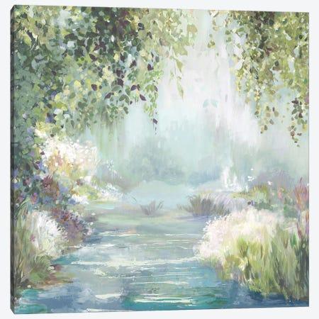 Sunny Forest Path Canvas Print #ALP421} by Allison Pearce Canvas Wall Art