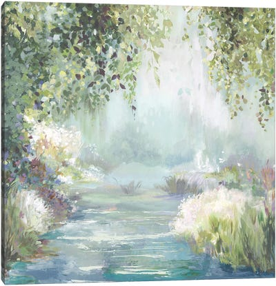 Sunny Forest Path Canvas Art Print