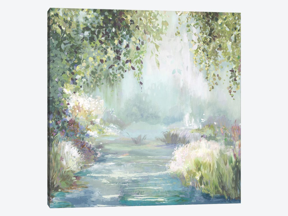 Sunny Forest Path by Allison Pearce 1-piece Canvas Art