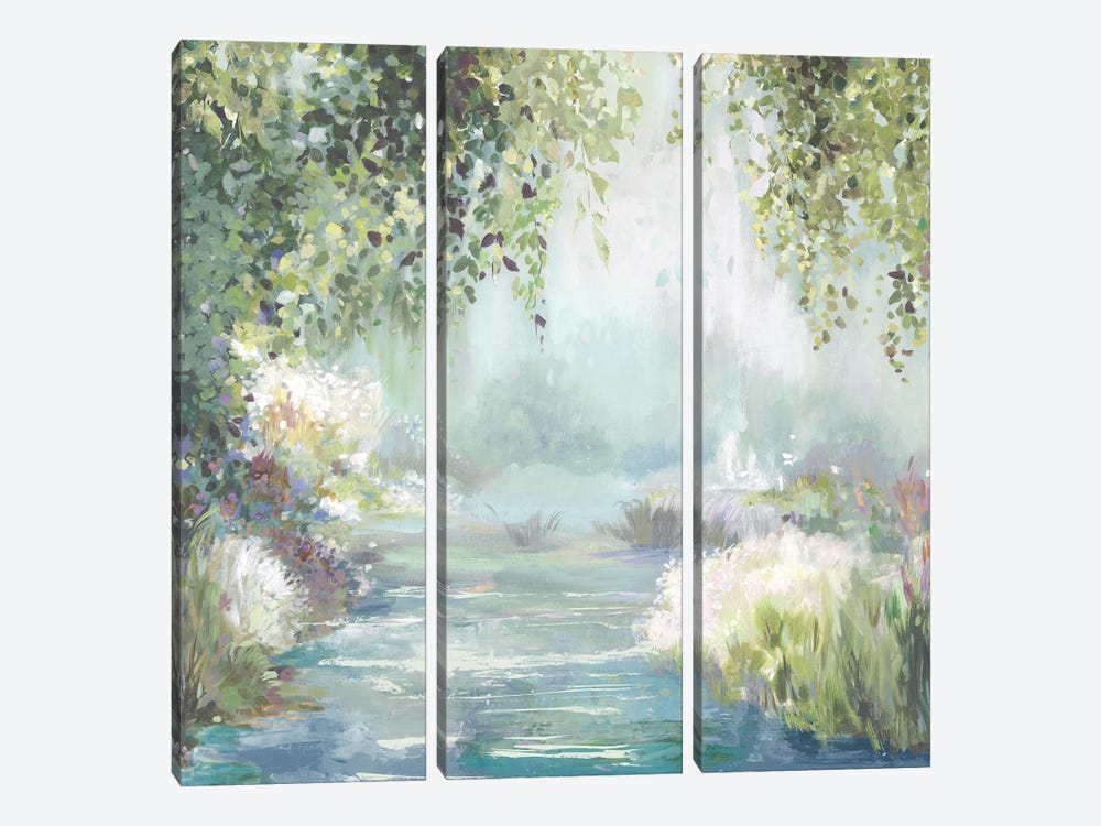 Sunny Forest Path by Allison Pearce 3-piece Canvas Artwork