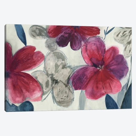 Cartagena Floral Canvas Print #ALP42} by Allison Pearce Art Print