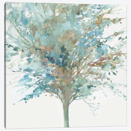 Tree Teal I Canvas Print #ALP435} by Allison Pearce Canvas Art
