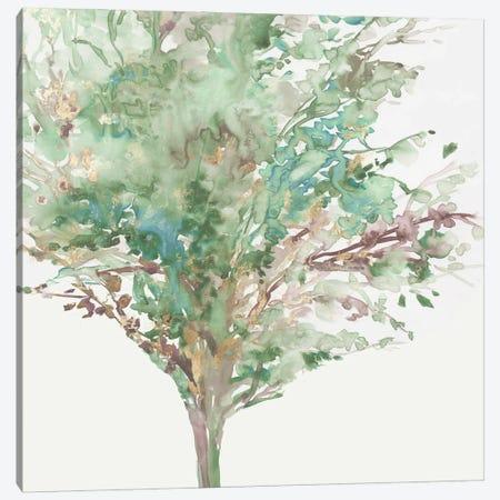 Tree Teal III Canvas Print #ALP437} by Allison Pearce Canvas Wall Art
