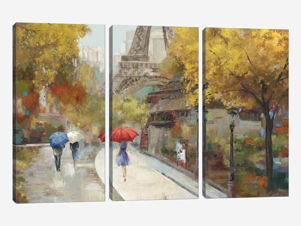 Amant de Marche by Allison Pearce 3-piece Canvas Print