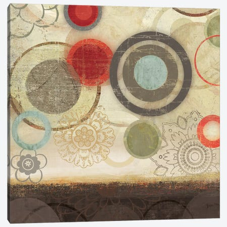 Colourful Elements I Canvas Print #ALP53} by Allison Pearce Canvas Art