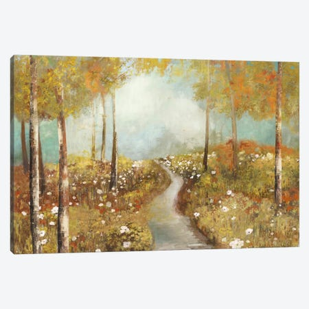 Dandelion Path Canvas Print #ALP60} by Allison Pearce Art Print