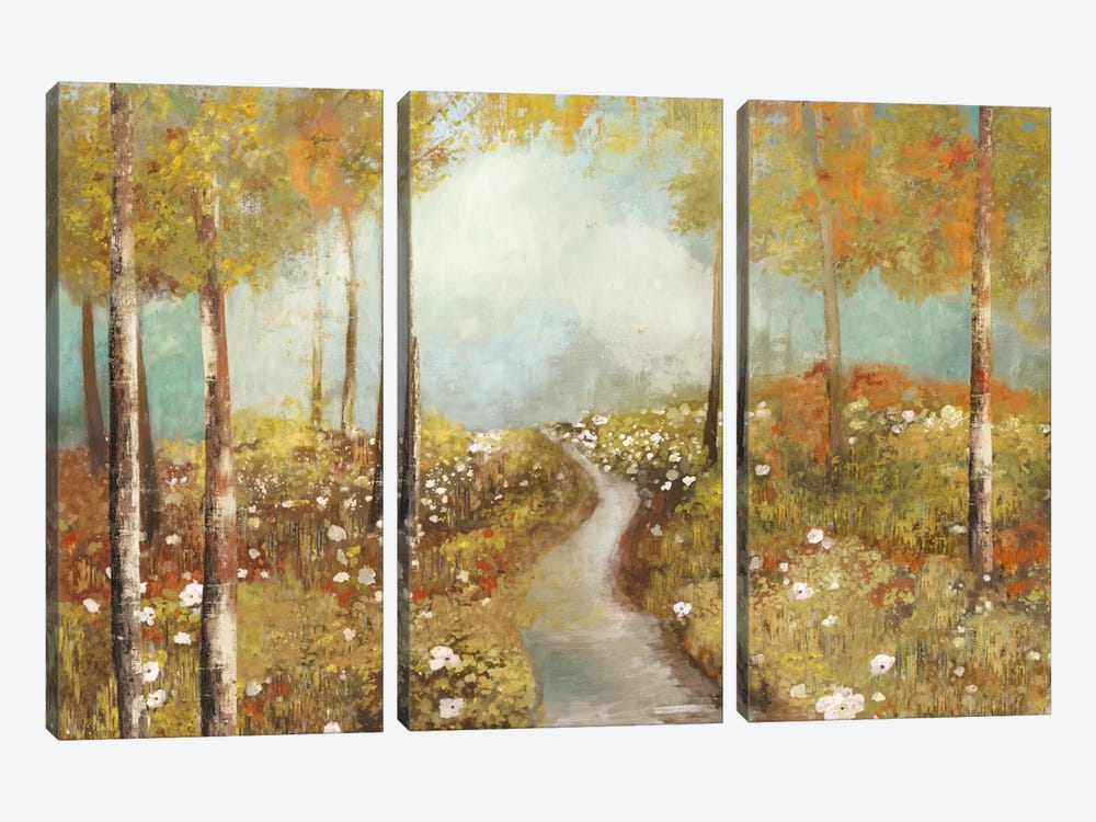 Dandelion Path by Allison Pearce 3-piece Canvas Wall Art