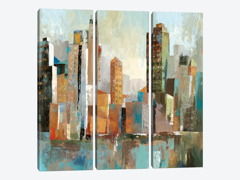 Downtown II by Allison Pearce 3-piece Canvas Artwork