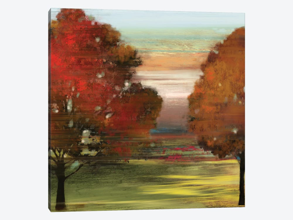 Flow Trees II by Allison Pearce 1-piece Canvas Artwork