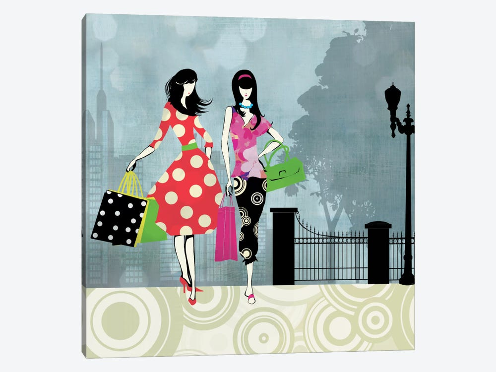 Girls Gone Shopping by Allison Pearce 1-piece Canvas Wall Art