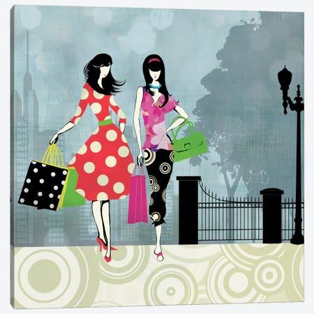 Girls Gone Shopping Canvas Print #ALP91} by Allison Pearce Canvas Wall Art