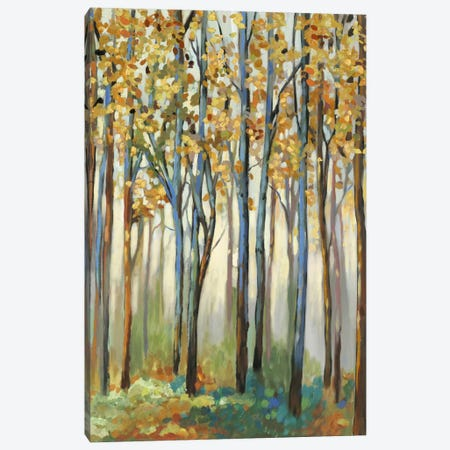 Golden Leaves Canvas Print #ALP98} by Allison Pearce Canvas Artwork
