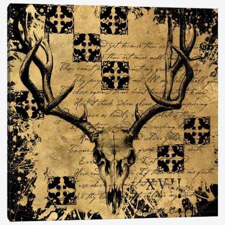 B&G Deer Skull Canvas Print #ALS1} by Art Licensing Studio Canvas Artwork