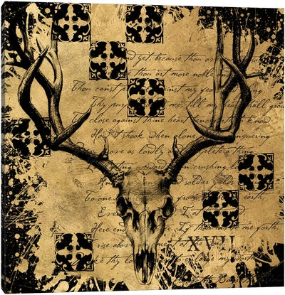 B&G Deer Skull Canvas Art Print
