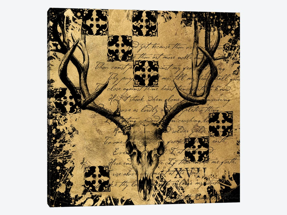B&G Deer Skull by Art Licensing Studio 1-piece Canvas Art Print