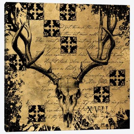 B&G Deer Skull Canvas Print #ALS1} by Art Licensing Studio Canvas Artwork