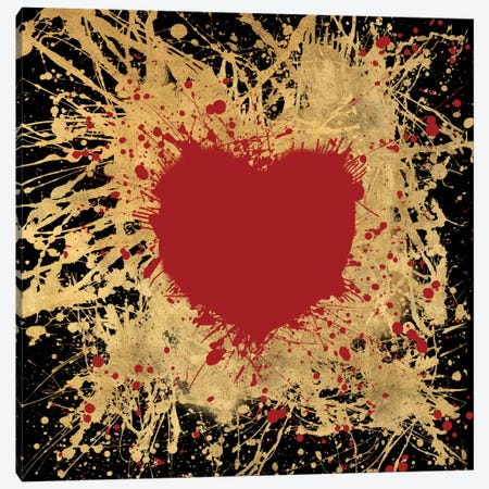 Heart Of Gold I Canvas Print #ALS7} by Art Licensing Studio Canvas Print