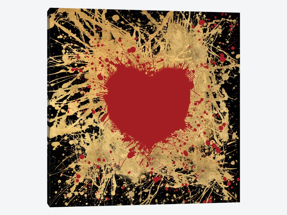 Heart Of Gold I by Art Licensing Studio 1-piece Canvas Print