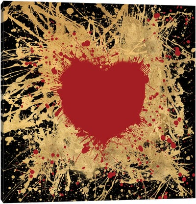 Heart Of Gold I Canvas Art Print