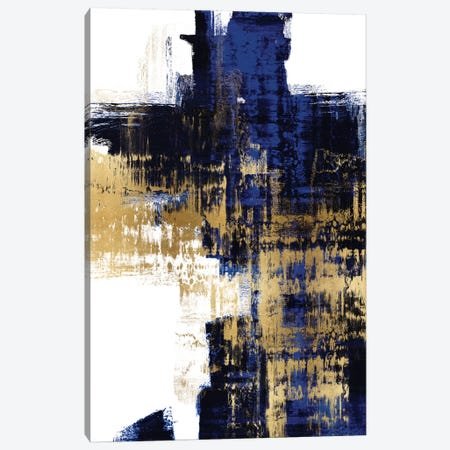Dynamic Gold on Blue II 3-Piece Canvas #ALW10} by Alex Wise Art Print