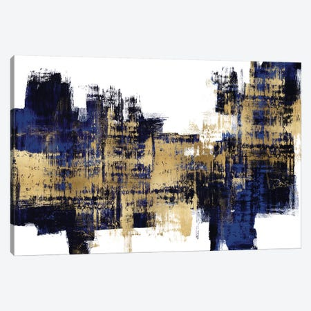 Vibrant Gold on Blue 3-Piece Canvas #ALW11} by Alex Wise Art Print
