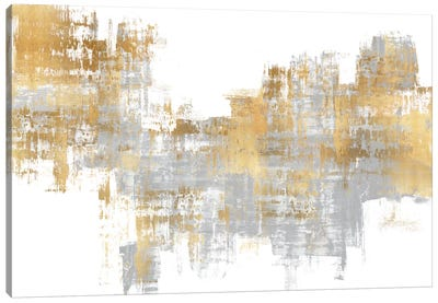 Dynamic Gold on Grey I Canvas Art Print