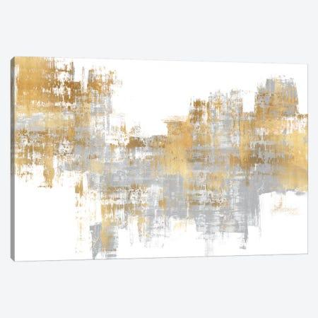 Dynamic Gold on Grey I Canvas Print #ALW15} by Alex Wise Canvas Wall Art