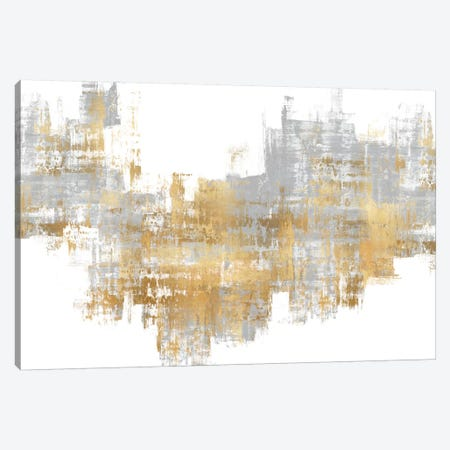 Dynamic Gold on Grey II 3-Piece Canvas #ALW16} by Alex Wise Canvas Artwork