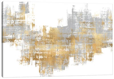 Dynamic Gold on Grey II Canvas Art Print