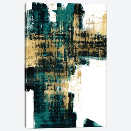 Infatuation Gold on Teal I Canvas Print #ALW17} by Alex Wise Canvas Wall Art