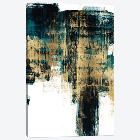 Infatuation Gold on Teal II 3-Piece Canvas #ALW18} by Alex Wise Canvas Art Print