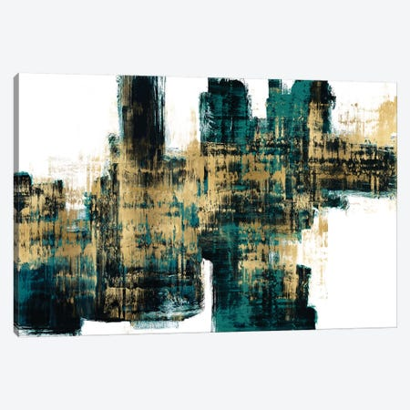 Vibrant Gold on Teal Canvas Print #ALW19} by Alex Wise Canvas Print