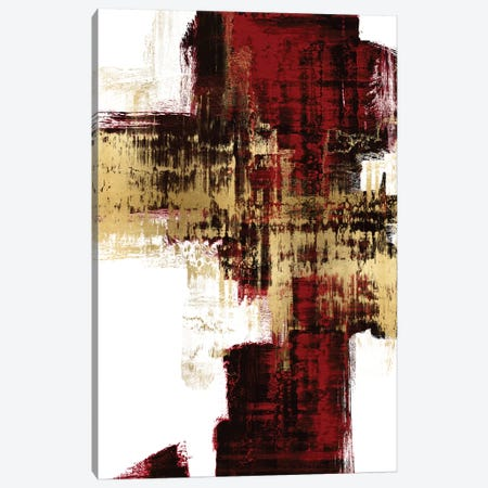 Kinetic Gold on Red I Canvas Print #ALW27} by Alex Wise Canvas Art Print