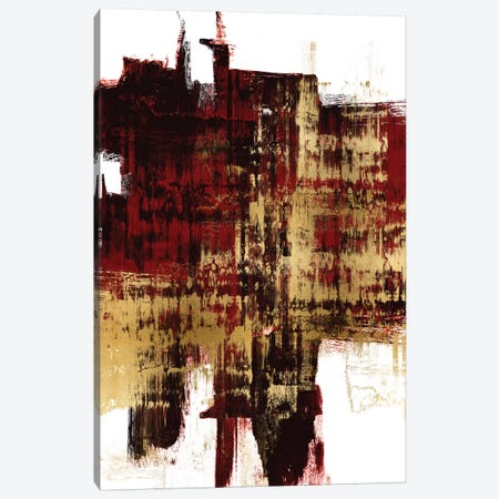 Kinetic Gold on Red II Canvas Print #ALW28} by Alex Wise Canvas Artwork