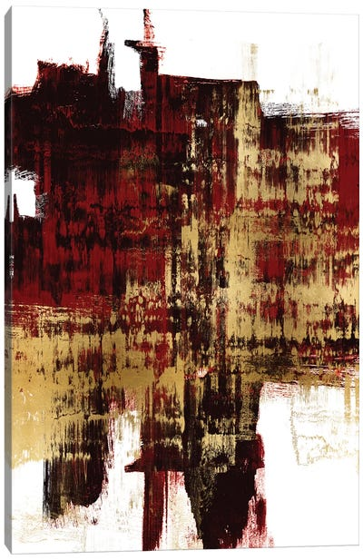 Kinetic Gold on Red II Canvas Art Print