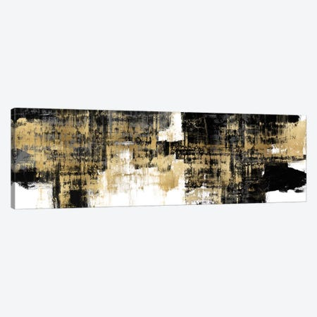 Amplified Gold on Black 3-Piece Canvas #ALW6} by Alex Wise Canvas Art Print