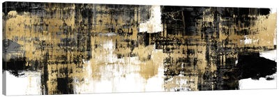 Amplified Gold on Black Canvas Art Print